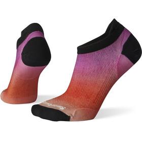 Smartwool PhD Run Ultra Light Ombre Print Micro Socks Women habanero